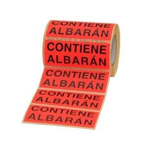 Etiqueta contiene albarán